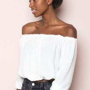 White Brandy Melville Maura top